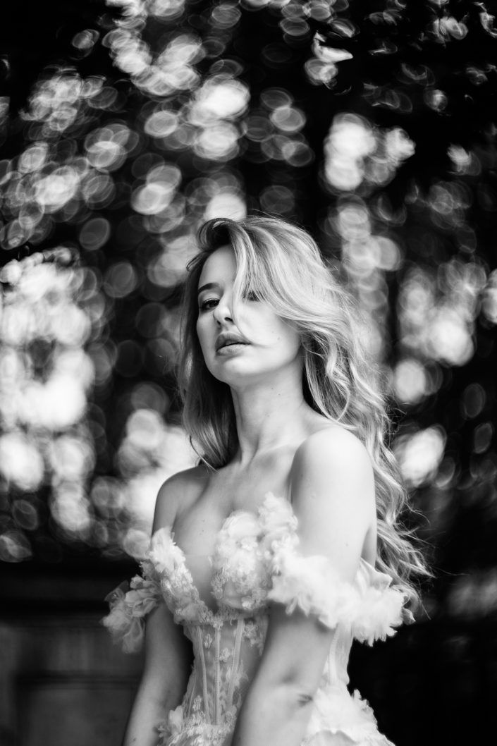 Dominika Nahajowska black and white portrait